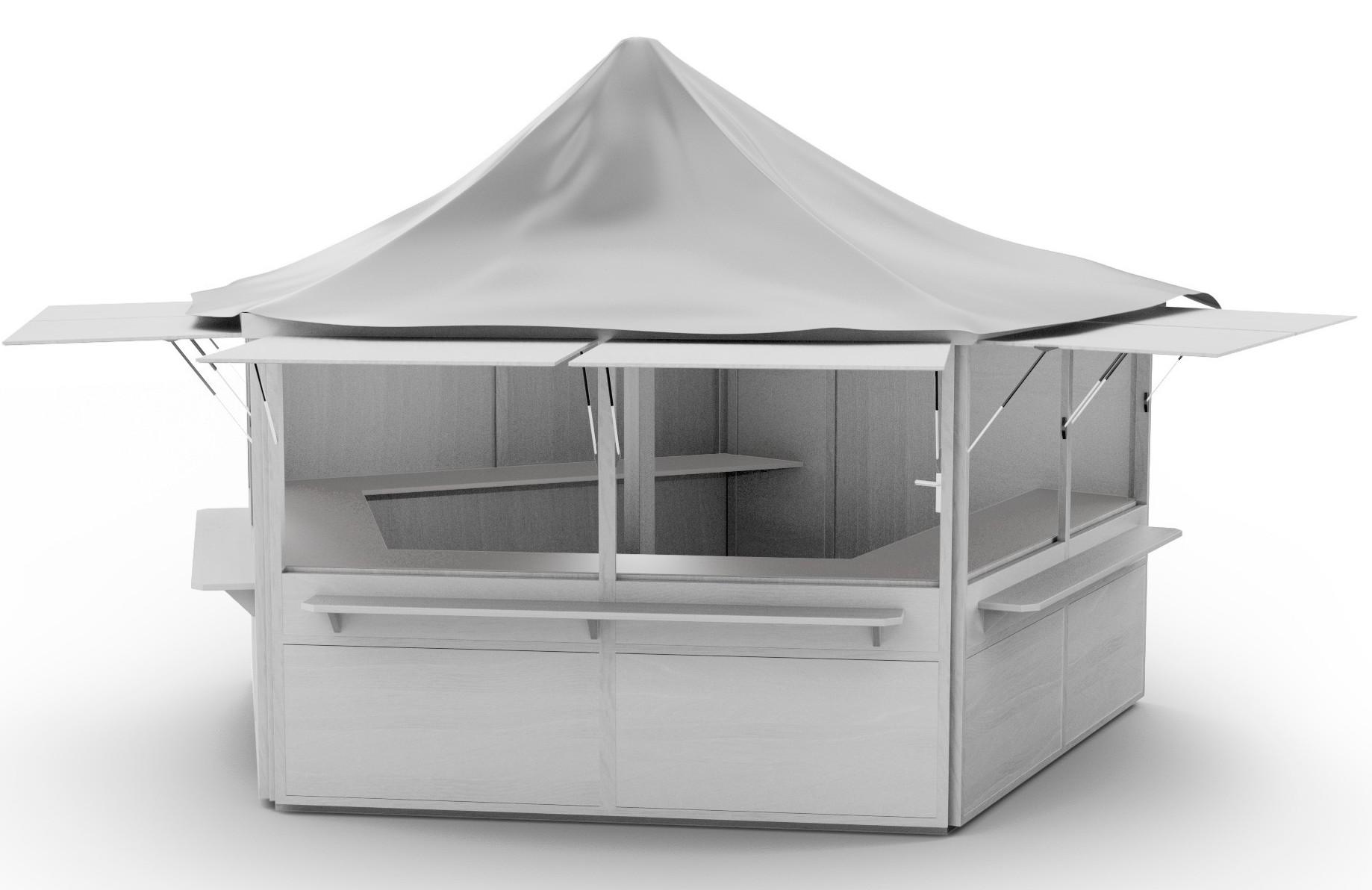 Pavillon weiß Front
